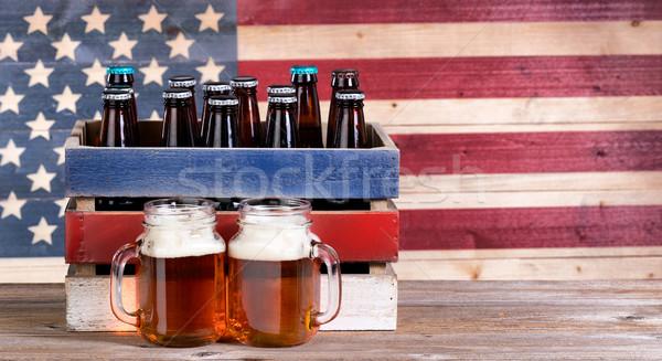 Cerveja férias partes dois quartilho Foto stock © tab62