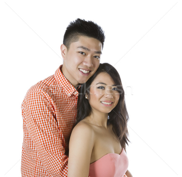 Young Adult Couple showing happiness  Stock photo © tab62