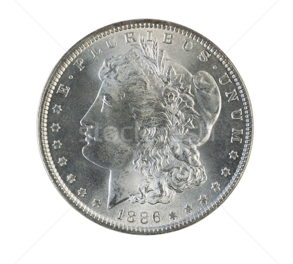 Morgan Silver Dollar on White  Stock photo © tab62