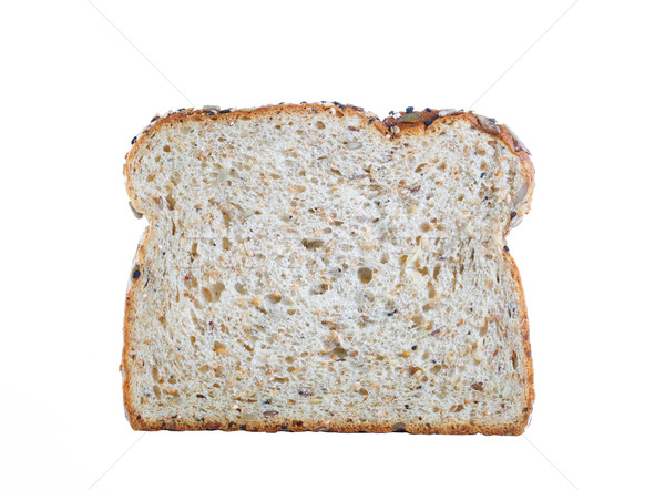 Vers plakje brood geïsoleerd witte Stockfoto © tab62