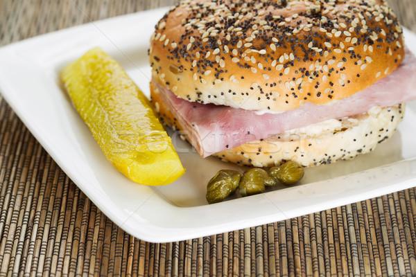 ветчиной сэндвич горизонтальный фото свежие Сток-фото © tab62