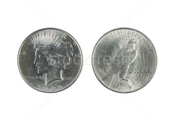 Peace Silver Dollars on White  Stock photo © tab62