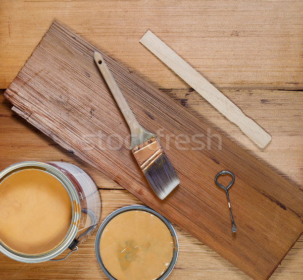 Basic Tools for Staining Wood  Stock photo © tab62