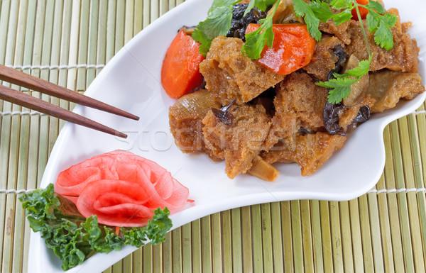 приготовленный китайский Тофу блюдо Сток-фото © tab62