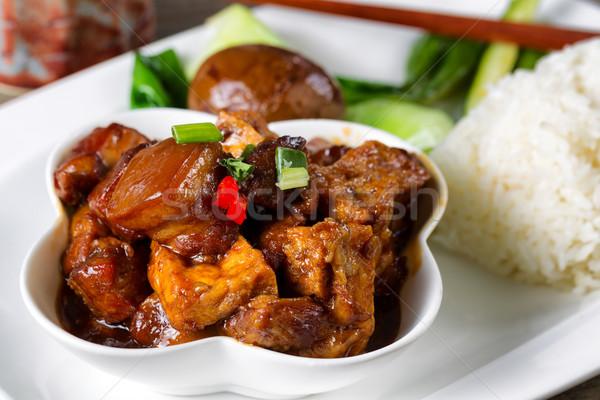 китайский Тофу мяса растительное блюдо готовый Сток-фото © tab62