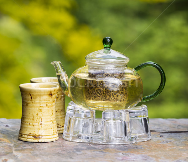 Freshly Brewed Green Tea Outdoors  Stock photo © tab62