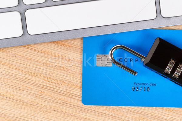 Creditcards Open slot desktop top Stockfoto © tab62