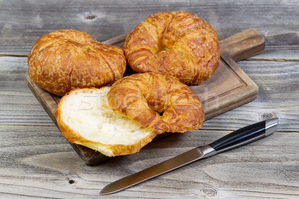 Croissant bordo primer plano vista Foto stock © tab62