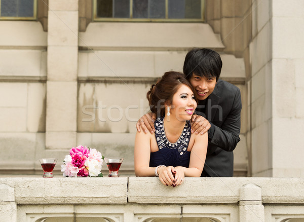 愛好家 を見て バルコニー 水平な 写真 ストックフォト © tab62