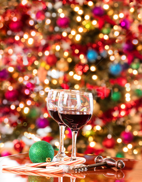 Red wine for the seasonal holidays  Stock photo © tab62