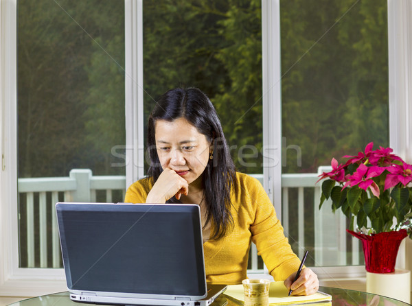 Mature woman working from Home Office  Stock photo © tab62