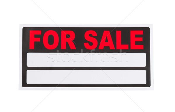 új vásár felirat fehér kész izolált Stock fotó © tab62