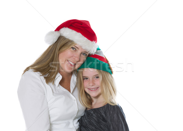 Mother and daughter in the holiday mood  Stock photo © tab62