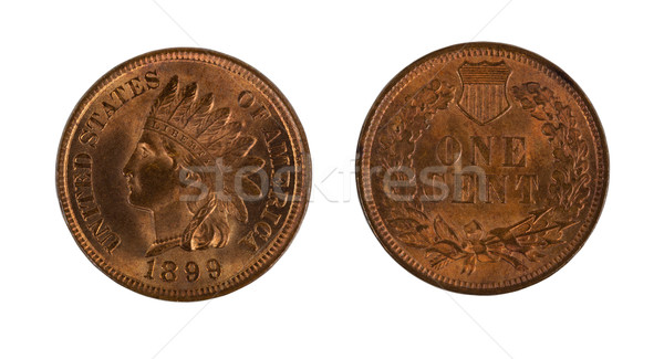 Highly graded American Indian Head cents on white background  Stock photo © tab62