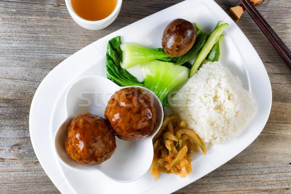 Edény fehér tányér kész eszik magas Stock fotó © tab62
