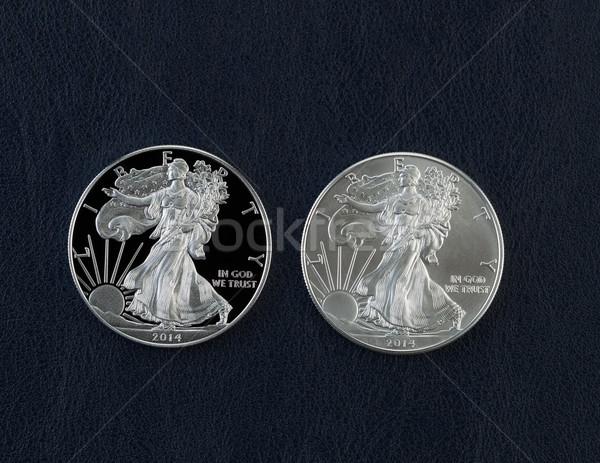 Photo stock: Preuve · argent · aigle · dollar · pièces