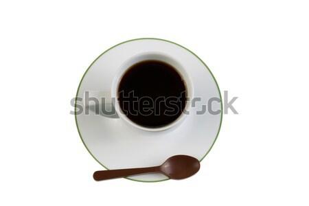 черный кофе шоколадом ложку белый Top Сток-фото © tab62