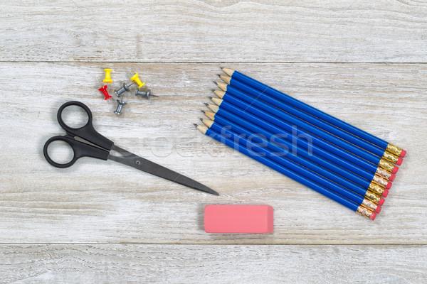 Eenvoudige houten desktop top Stockfoto © tab62