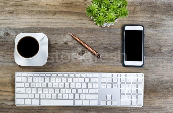 Düzenli masaüstü çalışmak üst görmek Stok fotoğraf © tab62