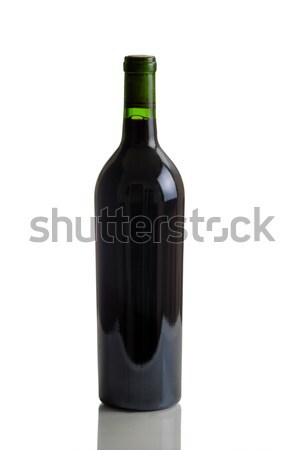 Unlabeled Full Bottle of Red Wine Stock photo © tab62