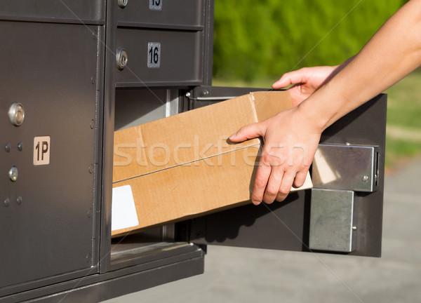 Omhoog colli mailbox horizontaal afbeelding Stockfoto © tab62