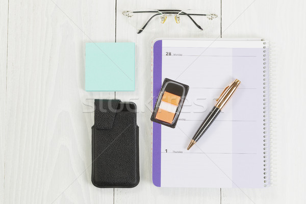 Desktop фундаментальный бизнеса служба объекты Top Сток-фото © tab62