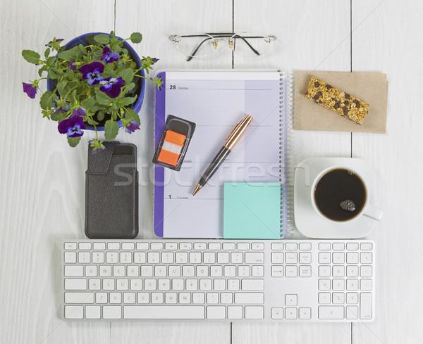 служба Desktop многие объекты древесины Top Сток-фото © tab62