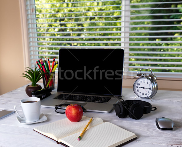Working desktop with bright daylight window in background  Stock photo © tab62
