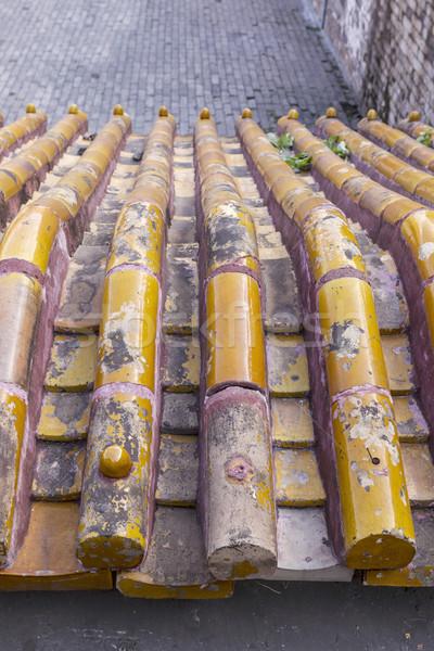 Tempel dak gebouw materieel bouwmaterialen verboden stad Stockfoto © tab62