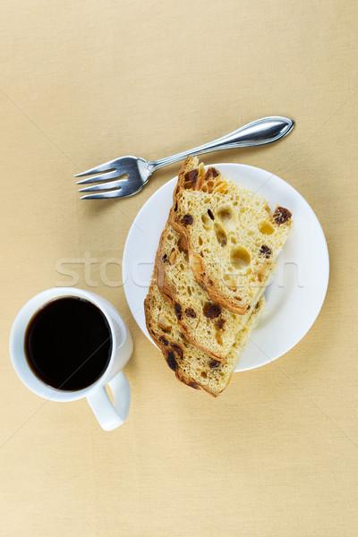свежие итальянский торт Ломтики черный кофе Сток-фото © tab62