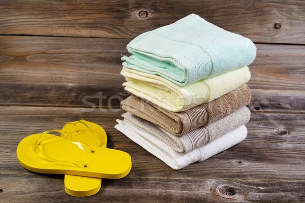 чистой сандалии выветрившийся древесины горизонтальный Сток-фото © tab62