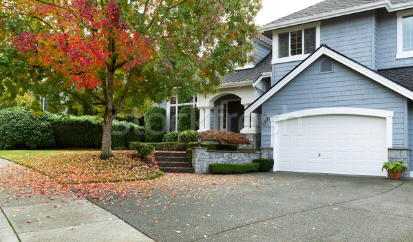 Early autumn with modern residential single family home  Stock photo © tab62