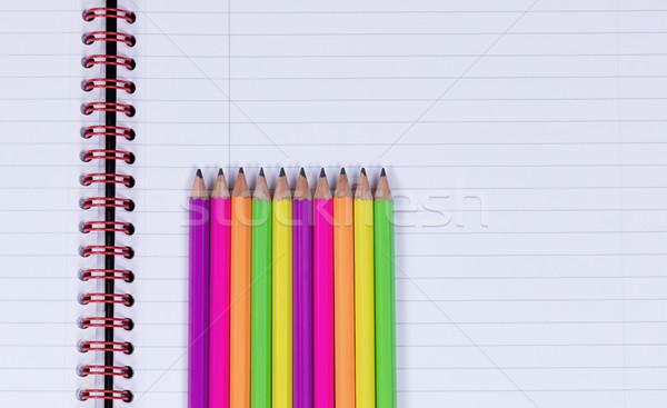 Photo stock: Up · crayon · conseils · spirale · portable · ligne