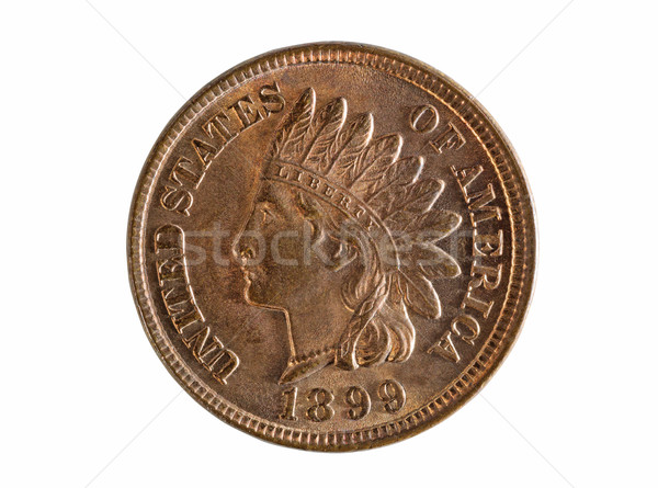 American Indian Head Coin in Pristine Condition on White Backgro Stock photo © tab62