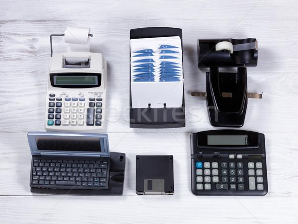 Vintage equipamentos de escritório computador tecnologia ver Foto stock © tab62