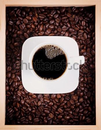 新鮮な カップ 暗い コーヒー ボックス ストックフォト © tab62