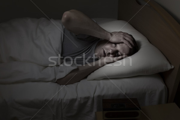 Mature Man having trouble Sleeping  Stock photo © tab62