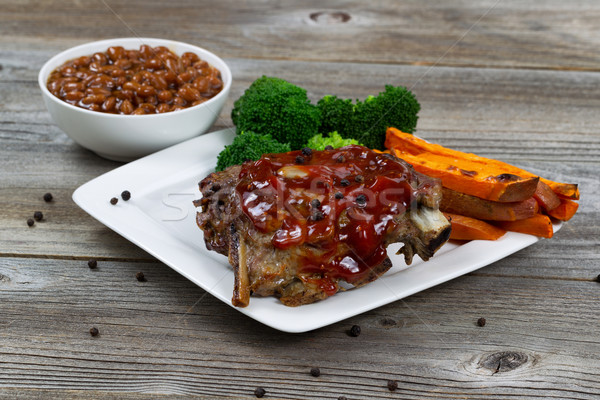 BBQ Ribs with side dishes Stock photo © tab62