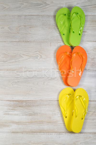 новых сандалии прямой линия Сток-фото © tab62