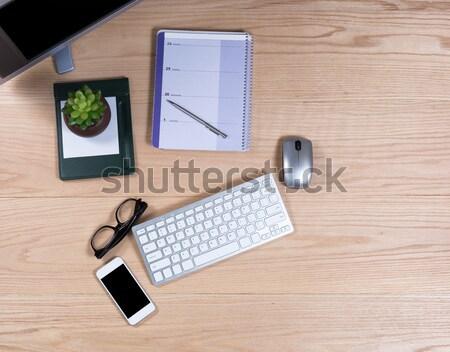 Desktop with audit equipment Stock photo © tab62