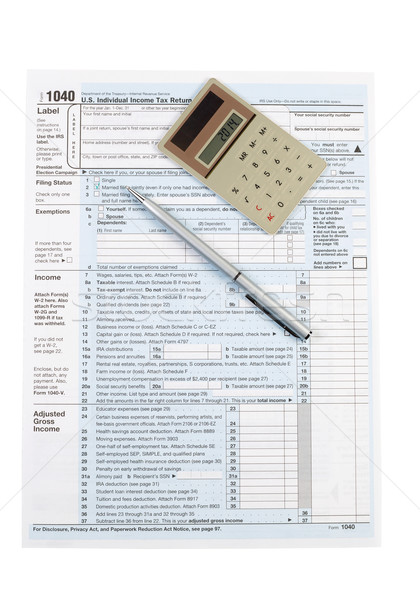Individual Income Tax Form for United States  Stock photo © tab62