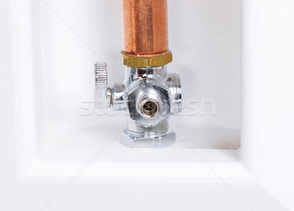 Hűtőszekrény víz szelep fotó otthon fehér Stock fotó © tab62