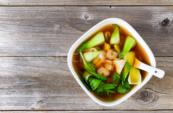 Chinese soup dish in bowl setting ready to eat  Stock photo © tab62