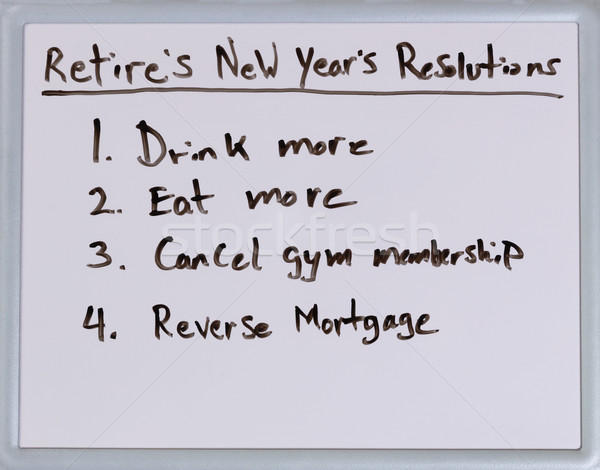 New Year resolutions for retirees Stock photo © tab62