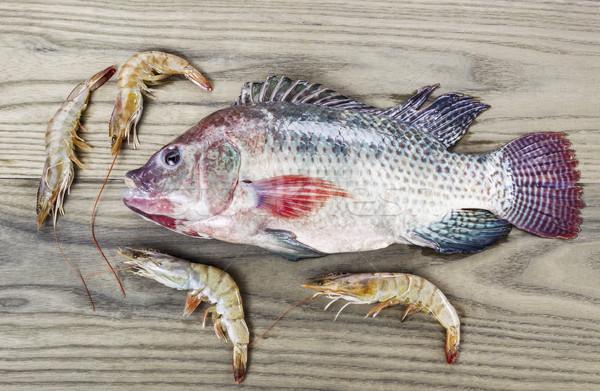 Gezonde vis garnalen vers veroudering as Stockfoto © tab62