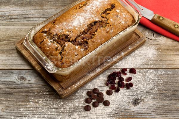 ズッキーニ パン 素朴な 木製 ストックフォト © tab62