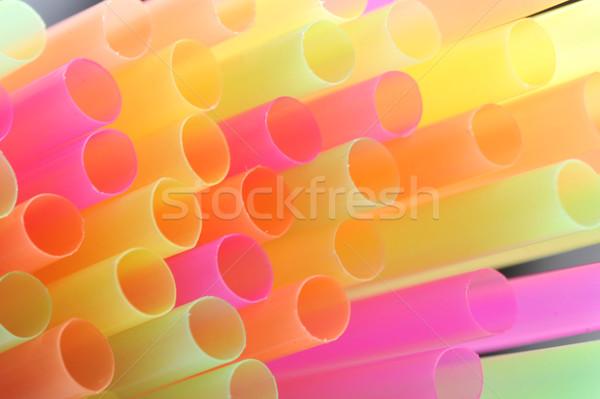 background made of straws Stock photo © taden
