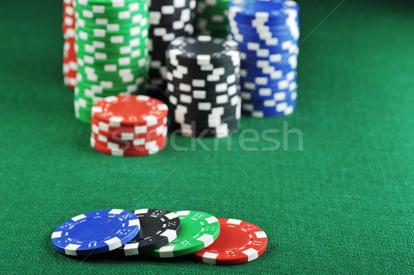 Stock photo: different color chips