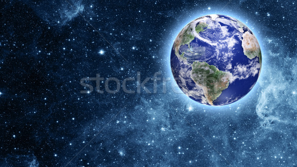blue planet in beautiful space Stock photo © taden