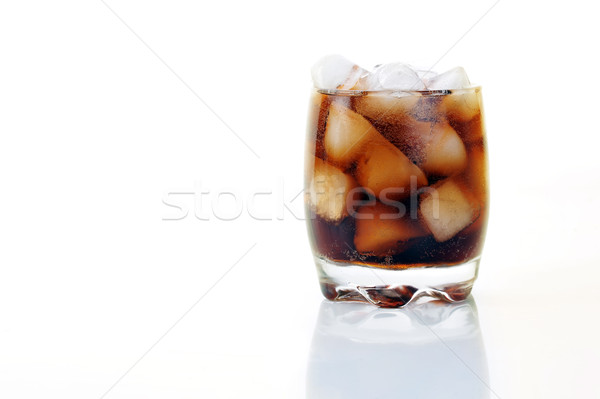 стекла Cola льда изолированный белый пространстве Сток-фото © taden